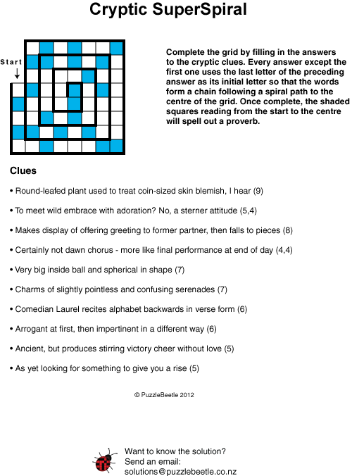 Puzzles and crossword samples new zealand puzzlebeetle cryptic superspiral puzzle puzzlebeetle malvernweather Image collections