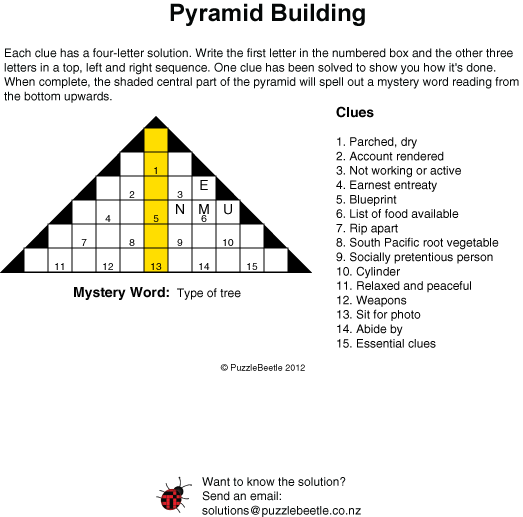 Puzzles and crossword samples new zealand puzzlebeetle pyramid building puzzle puzzlebeetle malvernweather Choice Image